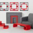 Download free 3D printing designs Modern Table, D5Toys