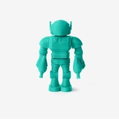 Free 3D printer files Raygun Robot, D5Toys