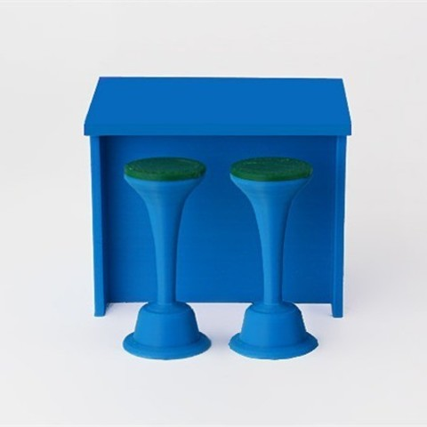 Download free 3D printing models Island and Stools, D5Toys