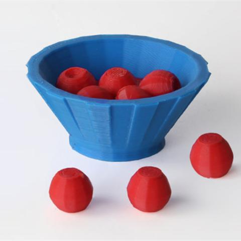 Télécharger fichier 3D gratuit Fruitbowl avec des pommes, D5Toys