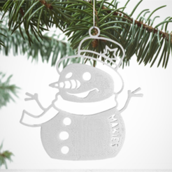 Free stl files Snowman Decoration, D5Toys
