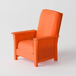 Download free STL file Arts and Crafts Morris Chair • Object to 3D print, D5Toys