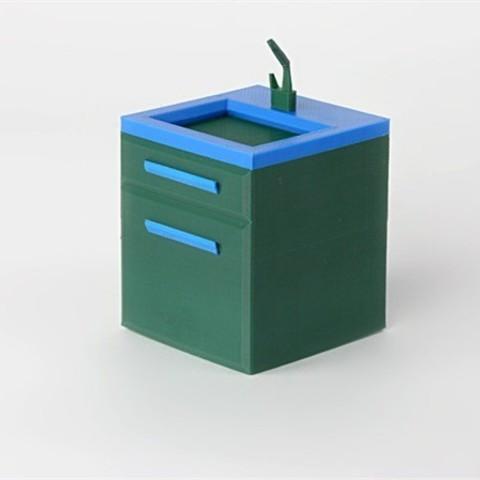 Download free 3D printing designs Sink, D5Toys