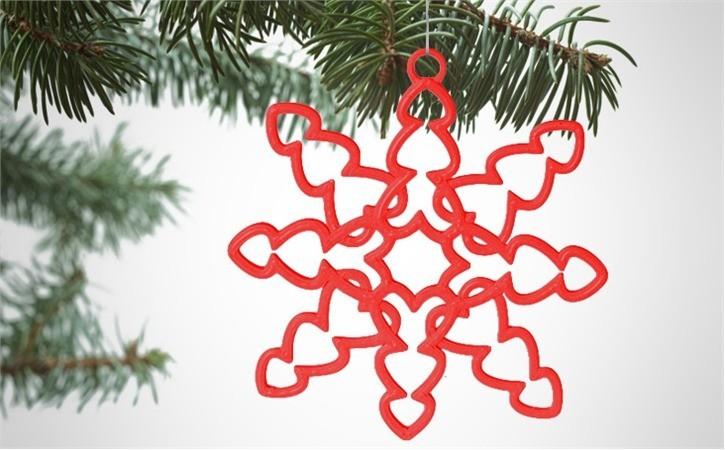 lifestyle_6AF1Y4RR6O.jpg Download free STL file Tons of Hearts Snowflake Decoration • 3D printer design, D5Toys