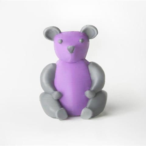 Download free STL file Teddy Bear Panda • 3D printing template, D5Toys