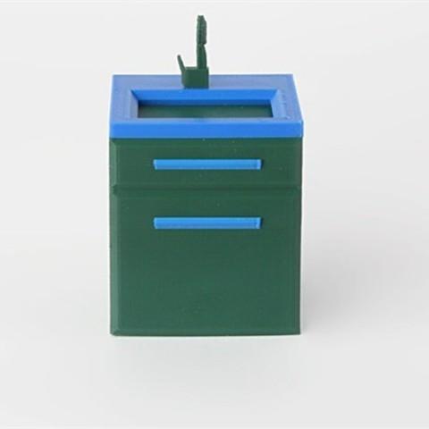 green_LWXGWLRKI5.jpg Download free STL file Sink • 3D print design, D5Toys