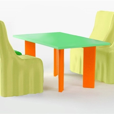 Download free STL file Modern Dining Table and Chairs • Object to 3D print, D5Toys