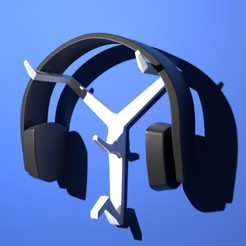 3D file Wall-Mounted Headphone Stand, MCKillerZ1