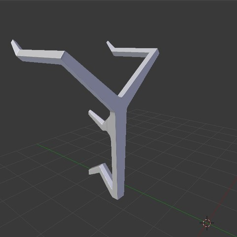 (HS) 4. Back View.jpg Download STL file Wall-Mounted Headphone Stand • 3D print object, MCKillerZ1