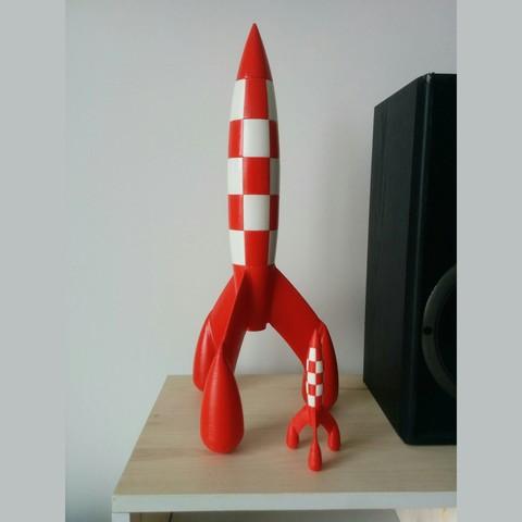 Sans titre-1.jpg Télécharger fichier STL gratuit Fusée Tintin (Tintin Rocket) • Design pour impression 3D, tiih