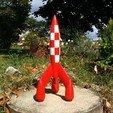 IMG_20170902_122417.jpg Télécharger fichier STL gratuit Fusée Tintin (Tintin Rocket) • Design pour impression 3D, tiih