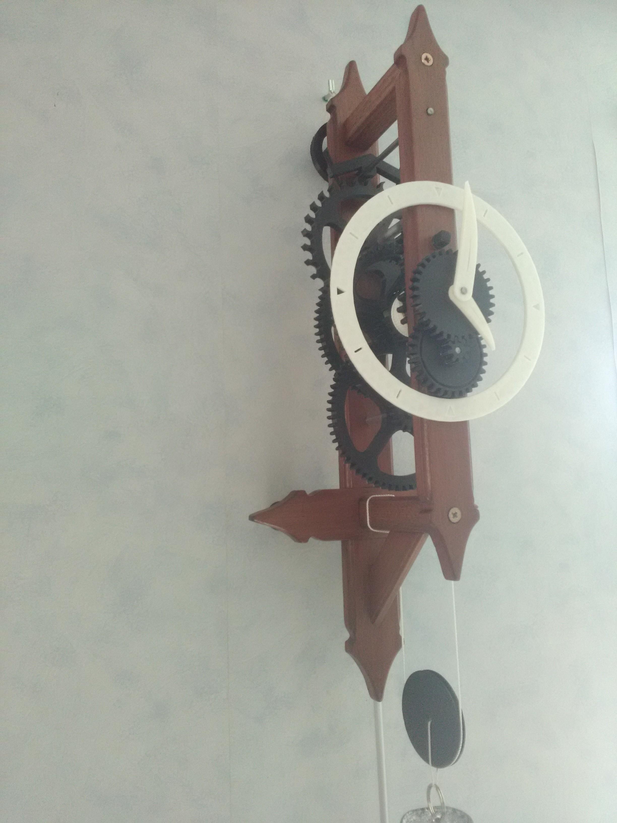 Horloge 3.jpg Download free STL file Mechanical clock to go up • Object to 3D print, CedricRoy