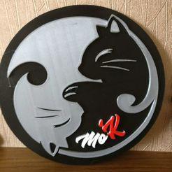 WhatsApp_Image_2018-01-12_at_10.37.35.jpeg Télécharger fichier STL gratuit Art mural Cat yang • Objet à imprimer en 3D, BREMMALAN