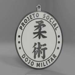 6.jpg Télécharger fichier STL gratuit Porte-clés militaire du Dojo v1 (Jiu-Jitsu) • Design imprimable en 3D, BREMMALAN