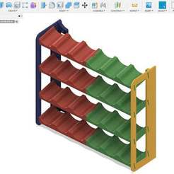 wallmountpreview.jpg Download free STL file Paint Rack • 3D print design, BREMMALAN