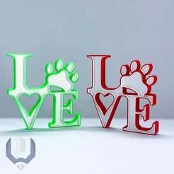 LOVE_PET22.jpg Télécharger fichier STL gratuit Signer Love Pet • Design à imprimer en 3D, BREMMALAN