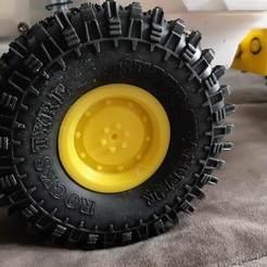 Descargar STL gratis Llanta trasera M35A2 para neumáticos 1.9, r083726