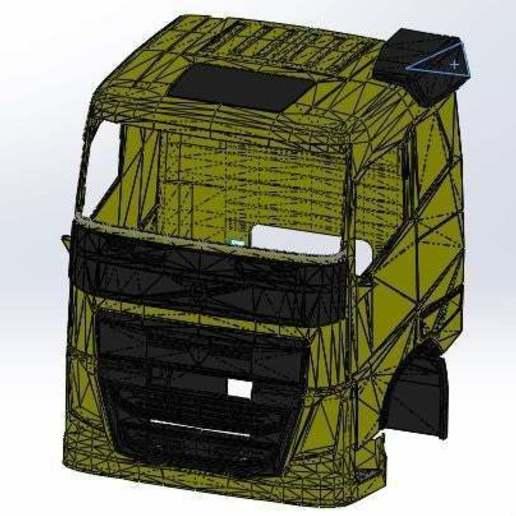 body_truck_rc.jpg Télécharger fichier STL gratuit rc truck 1/14 FH body • Objet à imprimer en 3D, r083726