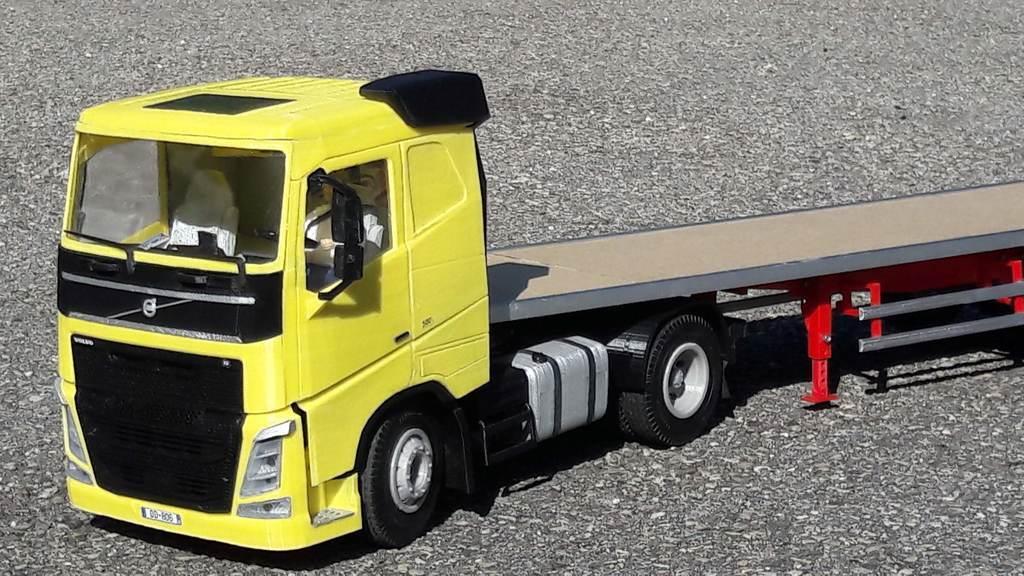 20190814_170828.jpg Télécharger fichier STL gratuit rc truck 1/14 FH body • Objet à imprimer en 3D, r083726