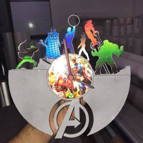 Download free STL avengers clock, FranciscoMontoya