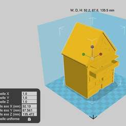 maisonoiseau1.jpg Download free STL file House for Bird - Birdhouse • Template to 3D print, chris480