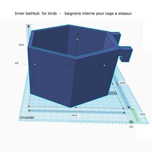 Télécharger fichier STL gratuit Baignoire interne - Inner bathtub • Plan pour impression 3D, chris480