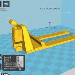 montirepal.jpg Download free STL file phone holder style pallet truck / transpalette • Template to 3D print, chris480