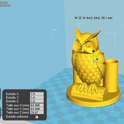 3stylos_chouette.jpg Download free STL file 3 pen holder owl • 3D printer design, chris480