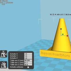 trafficCN.jpg Download free STL file Smartphone holder Traffic Cone style • 3D printer object, chris480