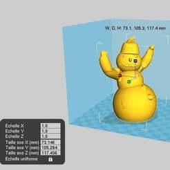 Télécharger modèle 3D gratuit Décor de bonhomme de neige, chris480