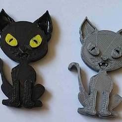 20200806_151659.jpg Download free STL file Cat Fridge Magnet • 3D printer model, chris480