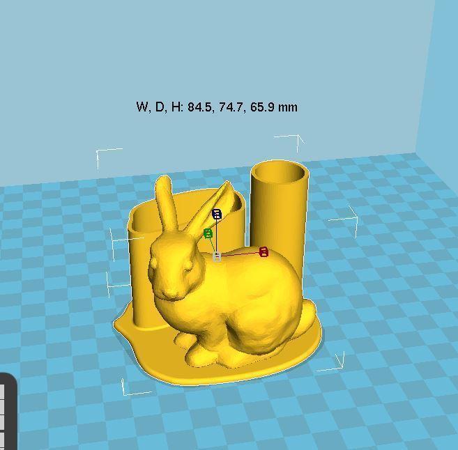 Capture.JPG Télécharger fichier STL gratuit Porte-plume Bunny • Design imprimable en 3D, chris480