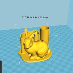 Download free 3D printer designs Bunny pen holder, chris480