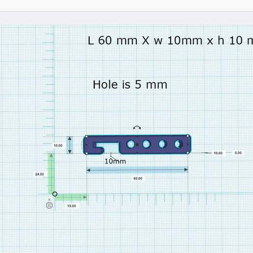 Download free STL file hook with Four hole • Design to 3D print, chris480