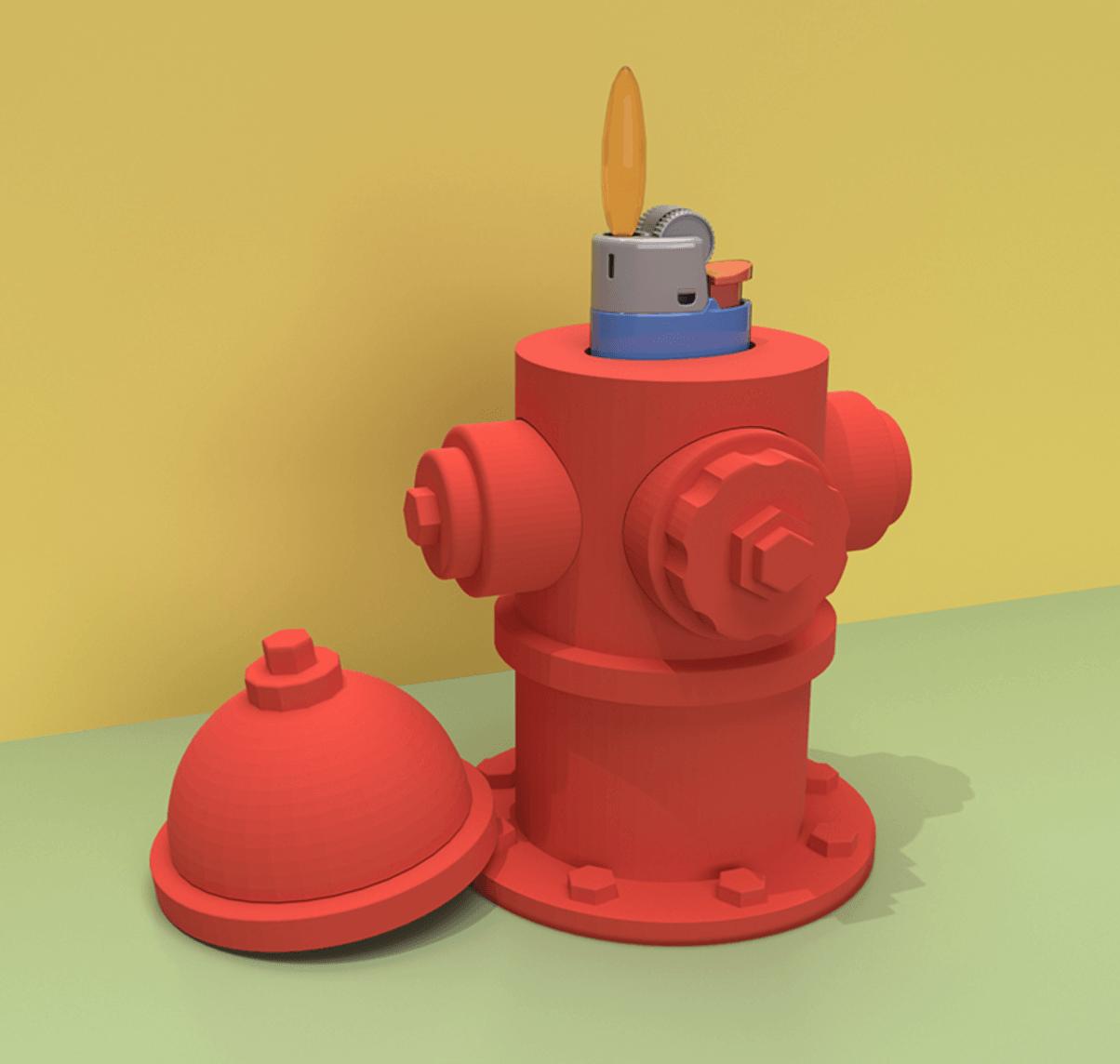 Capture d'écran 2018-04-25 à 15.16.29.png Download STL file LIGHT-A-FIRE HYDRANT • 3D print object, GrahamIndustries