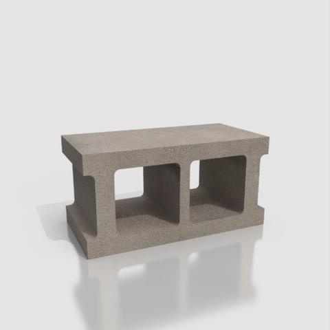 Imprimir en 3D gratis BLOQUE DE HORMIGÓN DE POCO O NINGÚN USO, GrahamIndustries