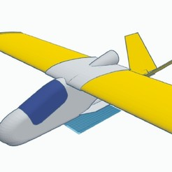 Download free 3D printer designs rc airplane pusher project in process, Evar