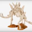 Descargar STL gratis Esqueleto de Stegosaurus, JackieMake