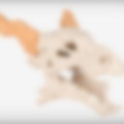 MiniDragonHorns.stl Download free STL file Dragon Skull • 3D printable object, JackieMake