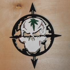 Archivos 3D gratis Logotipo del cráneo de la colina de Cypress, jbrum360