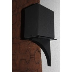 Free 3d print files Small Speaker Shelf, jbrum360