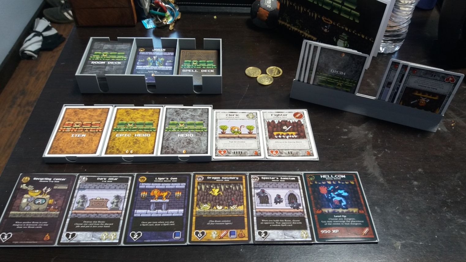 Capture d'écran 2017-09-06 à 11.05.35.png Download free STL file Boss Monster Dungeon Board & Card Holders • 3D printable design, jbrum360
