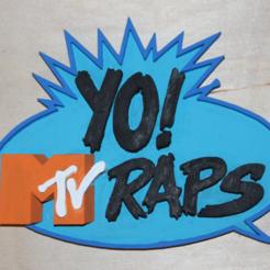 Impresiones 3D gratis ¡YO! Logotipo de MTV Raps, jbrum360