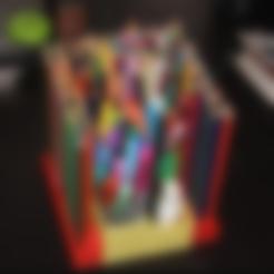 Imprimir en 3D gratis Portalápices de colores modulares, jbrum360