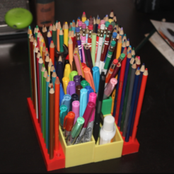 Free 3d printer files Modular Color Pencil Holder, jbrum360