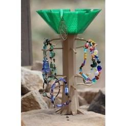 Objeto 3D Árbol y plato de joyería gratis, jbrum360
