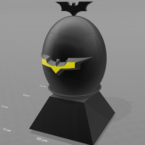 "1.png Download free STL file ""Batman egg"" piggy bank • 3D printing model, psl"