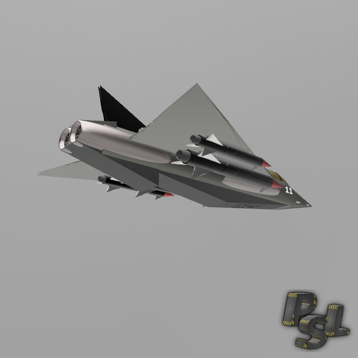 4.jpg Download free STL file Fighter aircraft 11 • Object to 3D print, psl