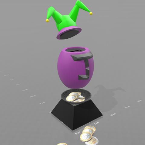 "2.png Download free STL file Piggy bank ""joker egg"" • Template to 3D print, psl"