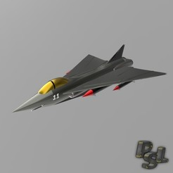 Download free 3D printer templates Fighter aircraft 11, psl